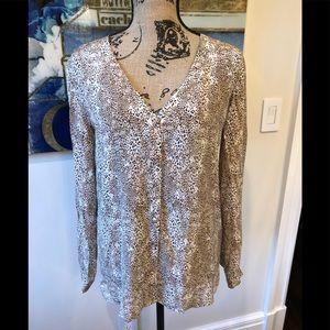 Joie silk leopard blouse